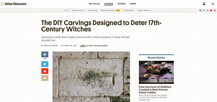 Atlas Obscura article about Witches