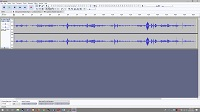 Screenshot of Audacity, a free sound editing program you could use.