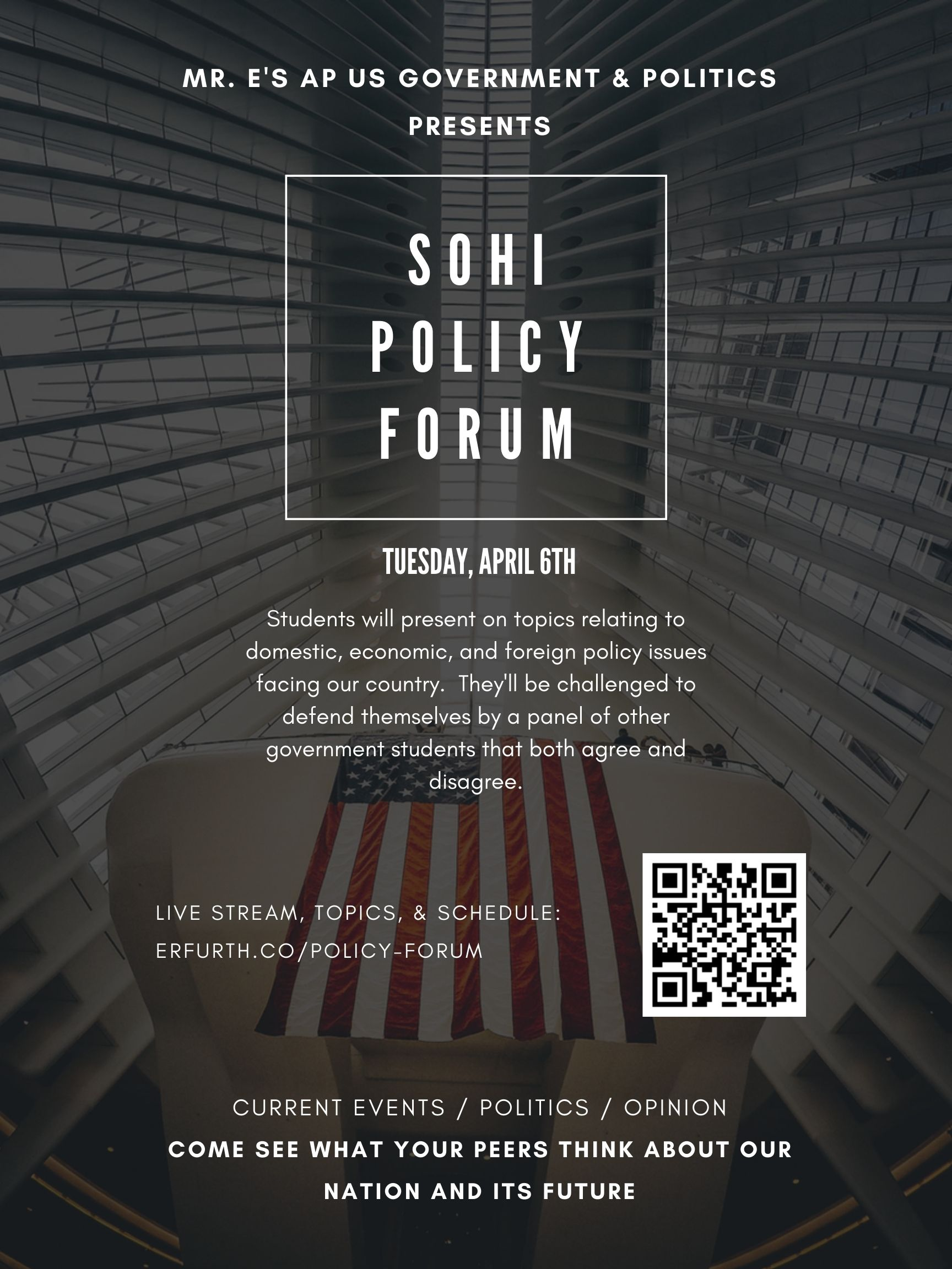 Policy Forum Flyer