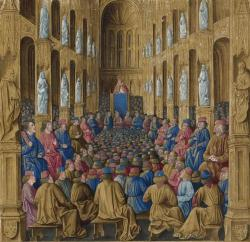 A 1474 painting of the Council of Clermont.